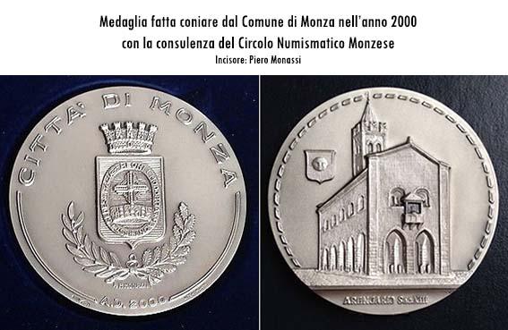 7281e0c5dd18 Circolo Numismatico Monzese » Medaglia del Comune - Anno 2000