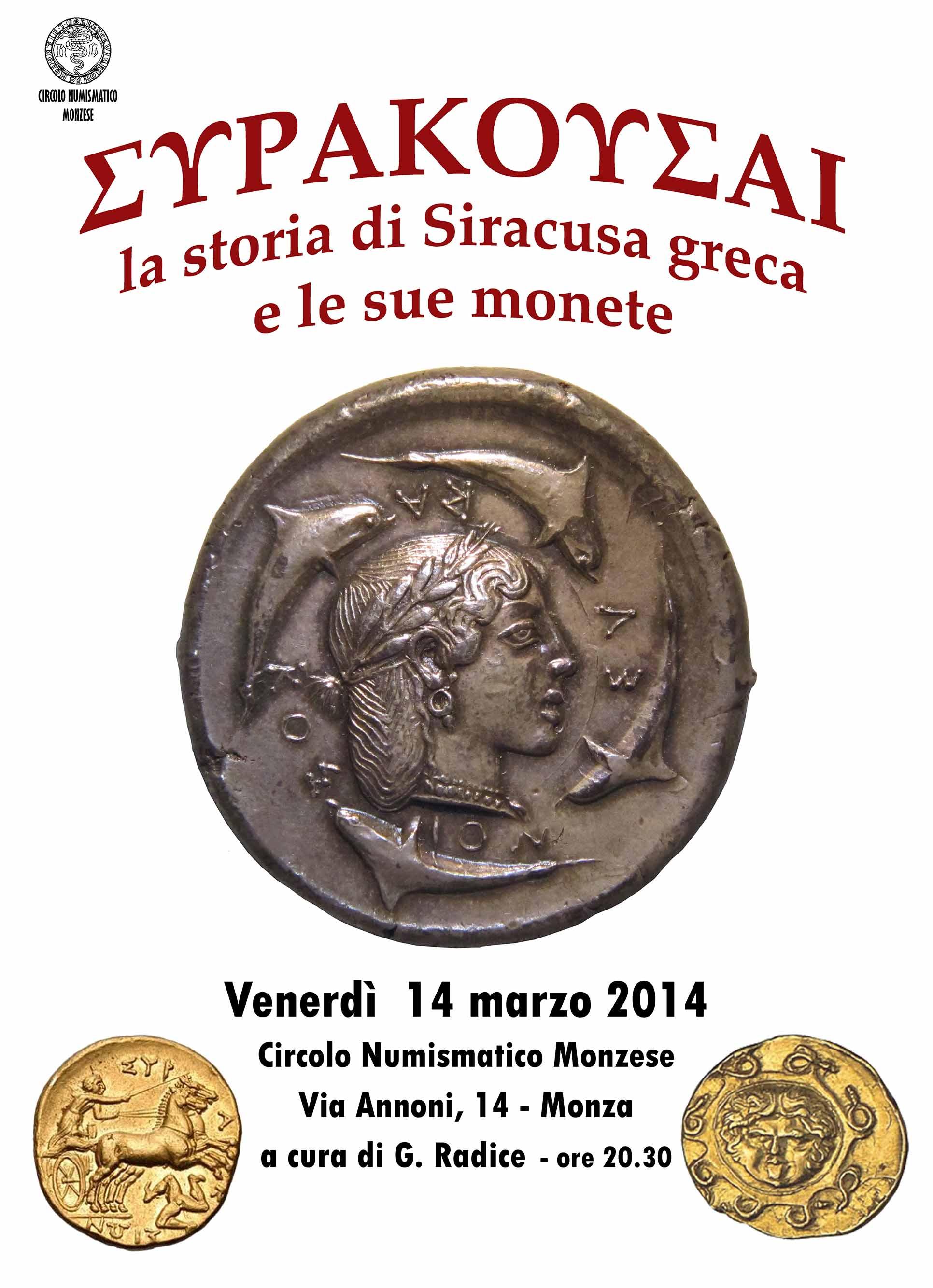 4243c3e93d Circolo Numismatico Monzese » Siracusa greca - La storia e le monete ...